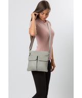 'Soames' Grey Leather Cross Body Bag image 7