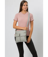 'Soames' Grey Leather Cross Body Bag image 2