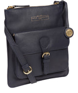 'Kenley' Navy Leather Cross Body Bag image 5