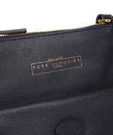 'Kenley' Navy Leather Cross Body Bag image 6