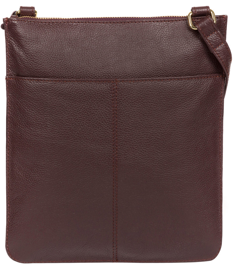 'Kenley' Plum Leather Cross Body Bag image 3