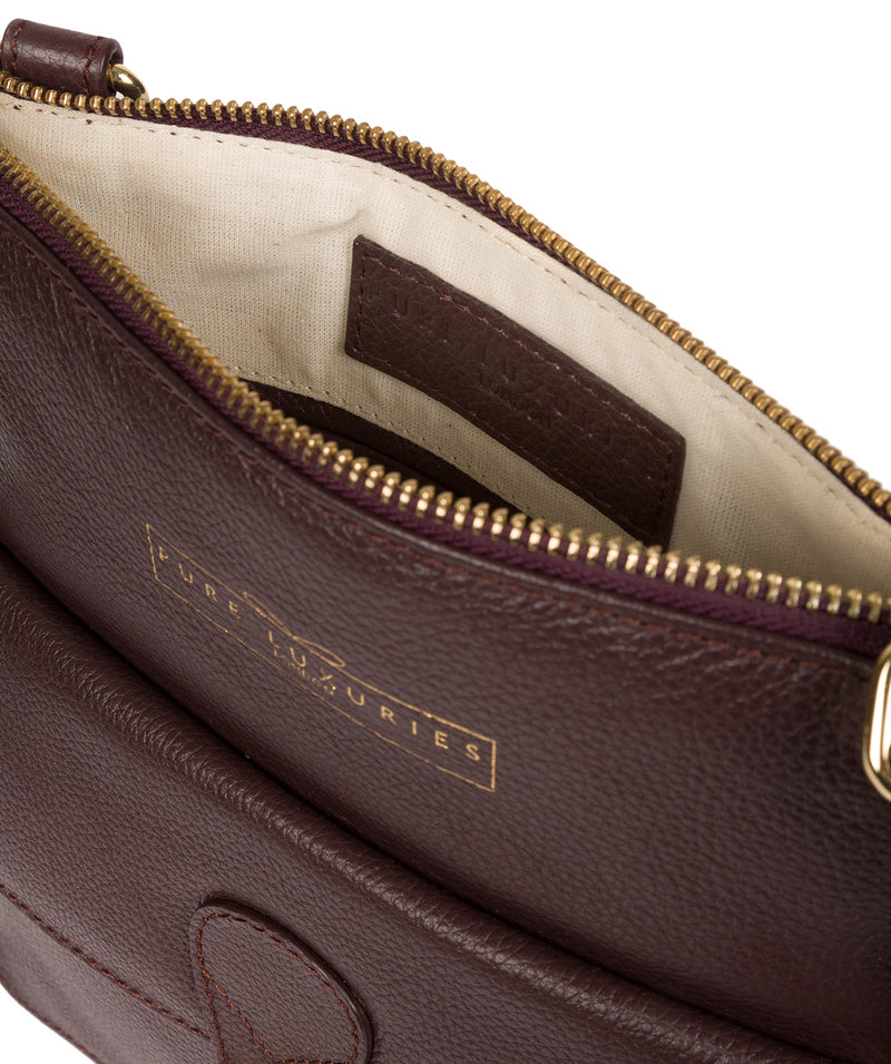 'Kenley' Plum Leather Cross Body Bag image 4