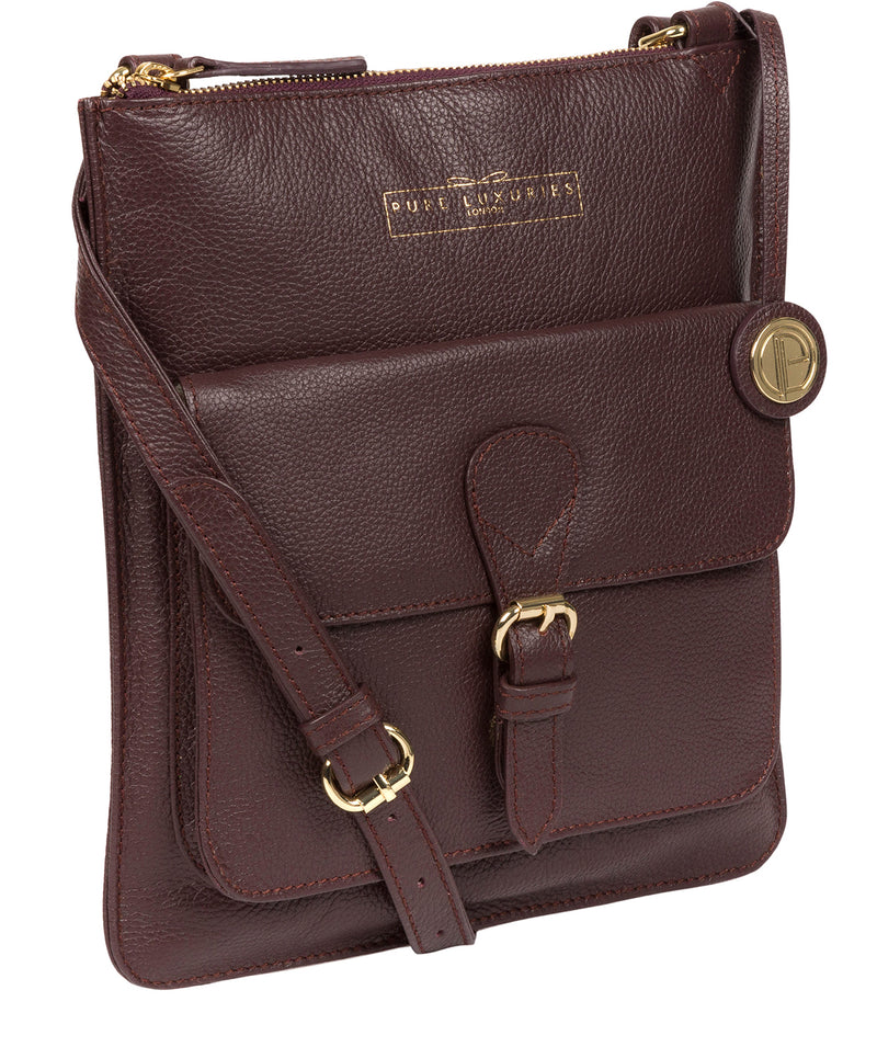 'Kenley' Plum Leather Cross Body Bag image 5