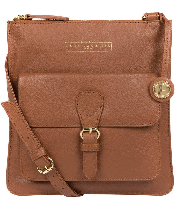 'Kenley' Tan Leather Cross Body Bag image 1
