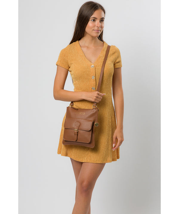 'Kenley' Tan Leather Cross Body Bag image 2