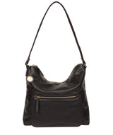 'Tenley' Black Leather Shoulder Bag image 1