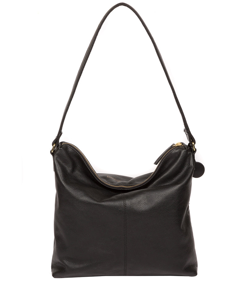 'Tenley' Black Leather Shoulder Bag image 3