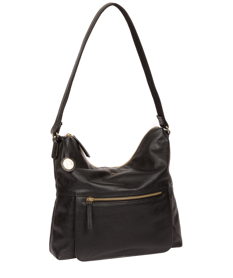 'Tenley' Black Leather Shoulder Bag image 5