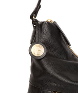 'Tenley' Black Leather Shoulder Bag image 6