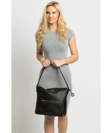 'Tenley' Black Leather Shoulder Bag image 2