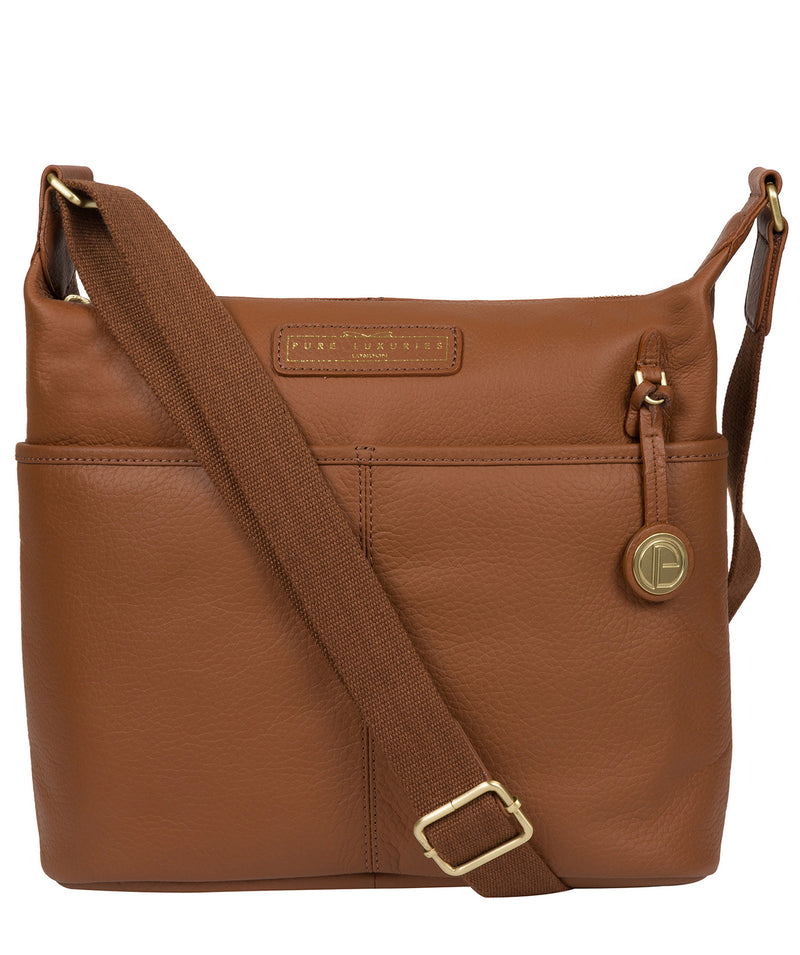 'Hove' Tan Leather Shoulder Bag image 1