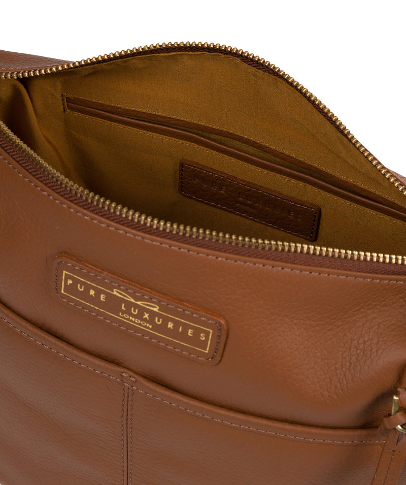 'Hove' Tan Leather Shoulder Bag image 4