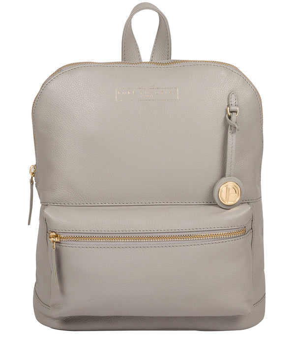 'Kinsely' Grey Leather Backpack image 1