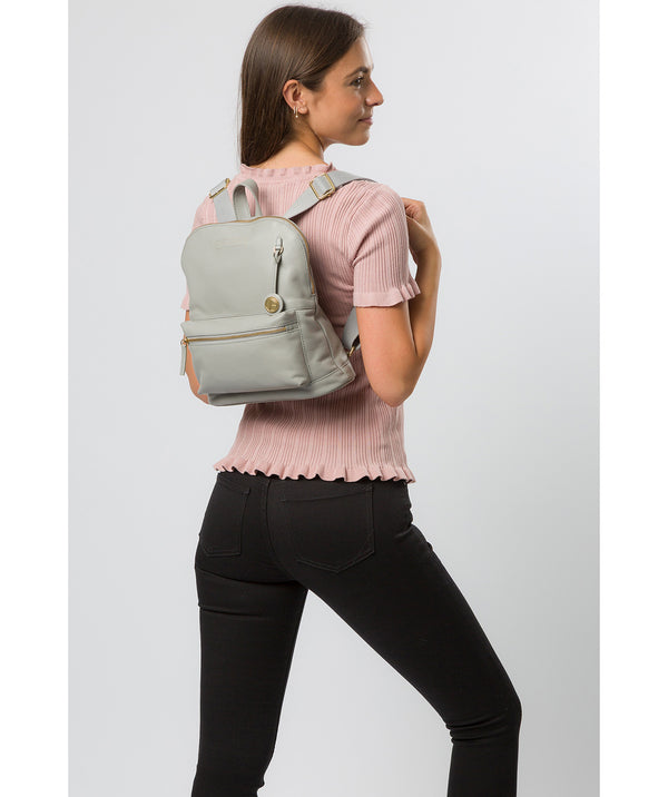 'Kinsely' Grey Leather Backpack image 2