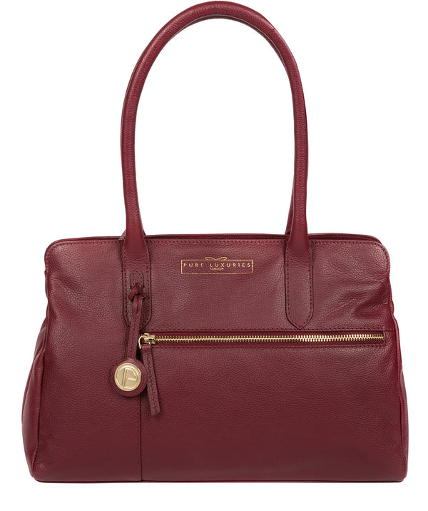 'Darby' Deep Red Leather Handbag image 1