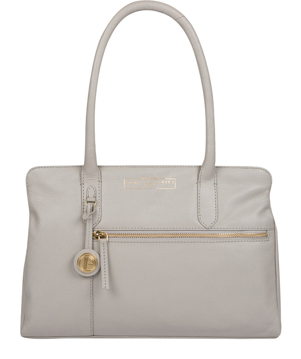'Darby' Grey Leather Handbag image 1