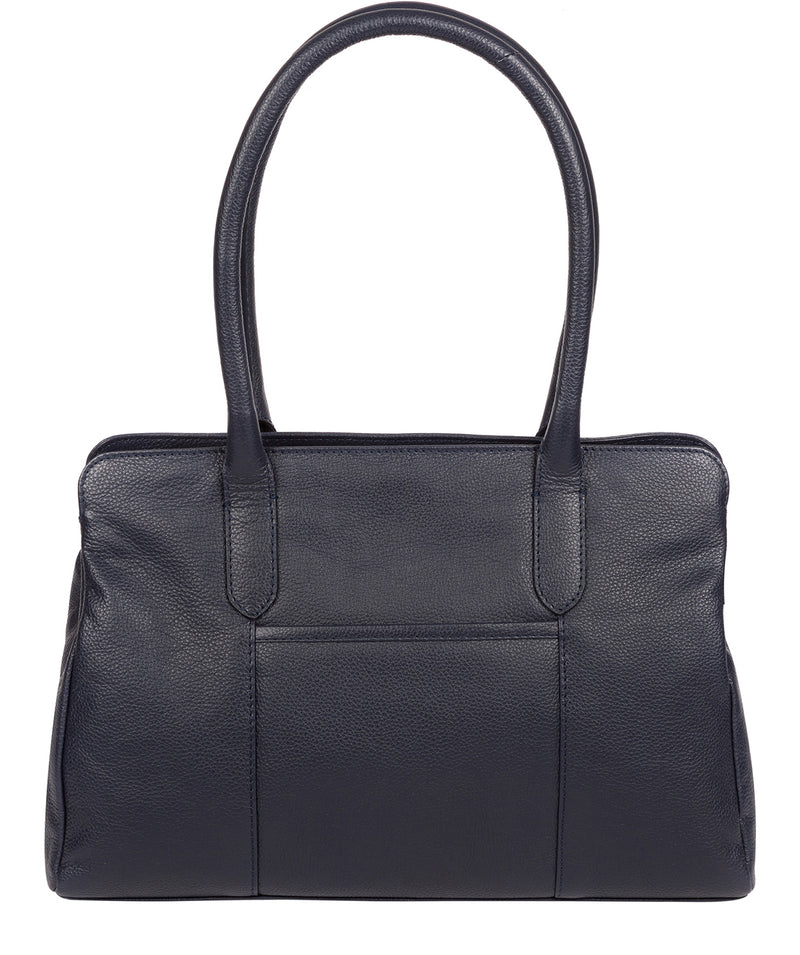 'Darby' Navy Leather Handbag image 3