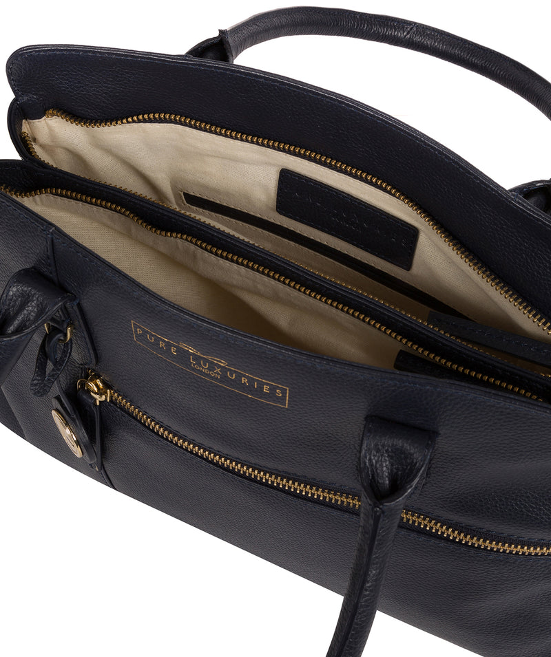 'Darby' Navy Leather Handbag image 4