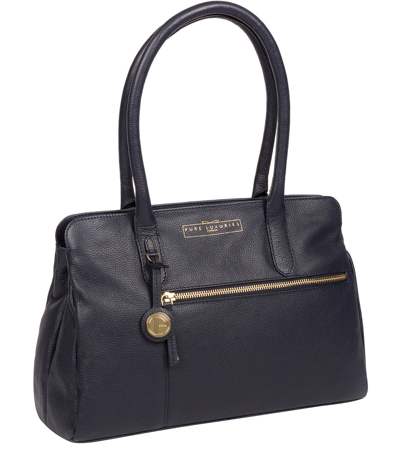'Darby' Navy Leather Handbag image 5