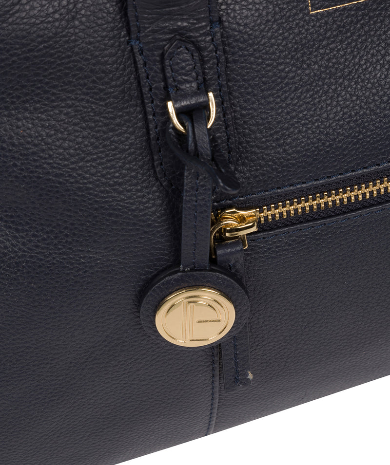 'Darby' Navy Leather Handbag image 6