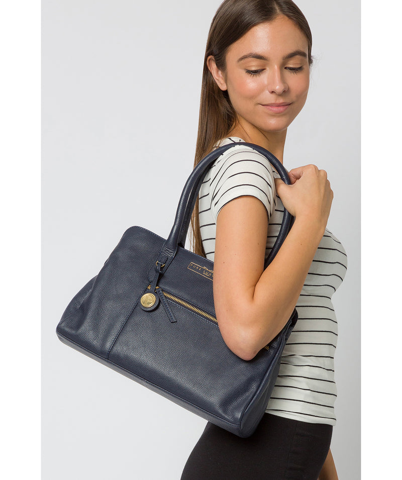 'Darby' Navy Leather Handbag image 2