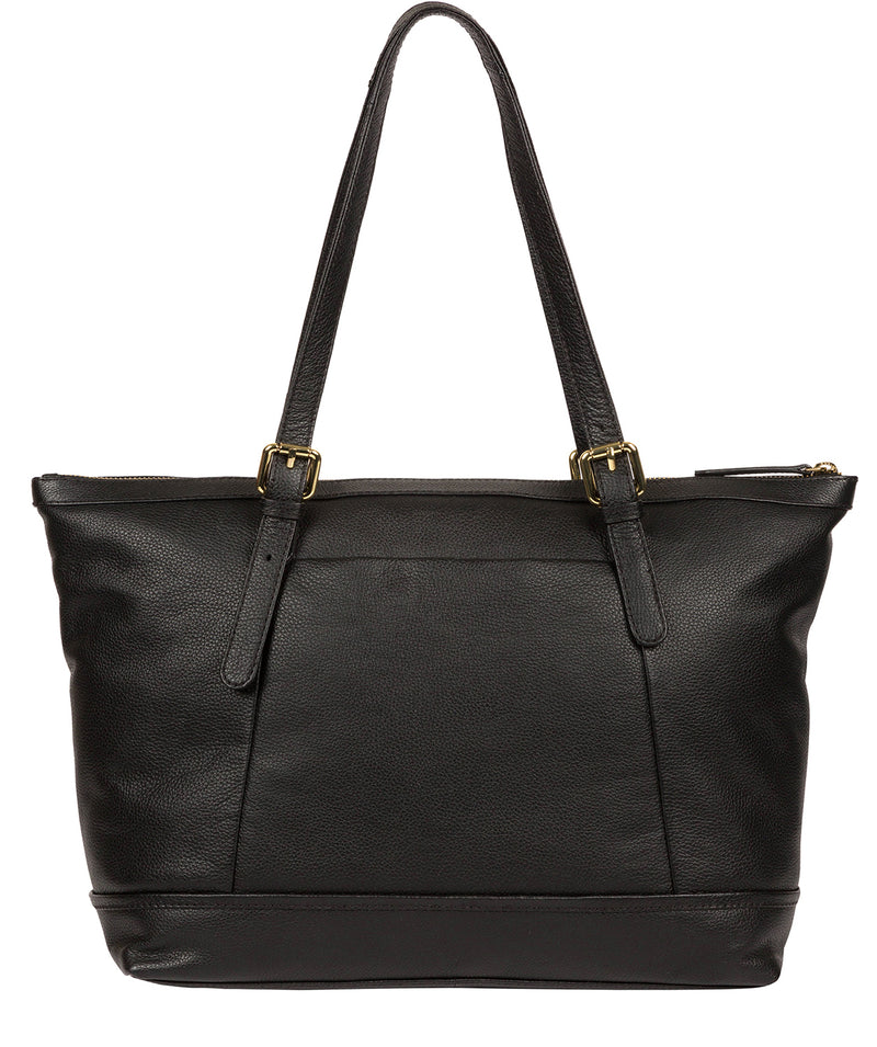 'Thame' Black Leather Tote Bag image 3