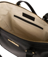 'Thame' Black Leather Tote Bag image 4