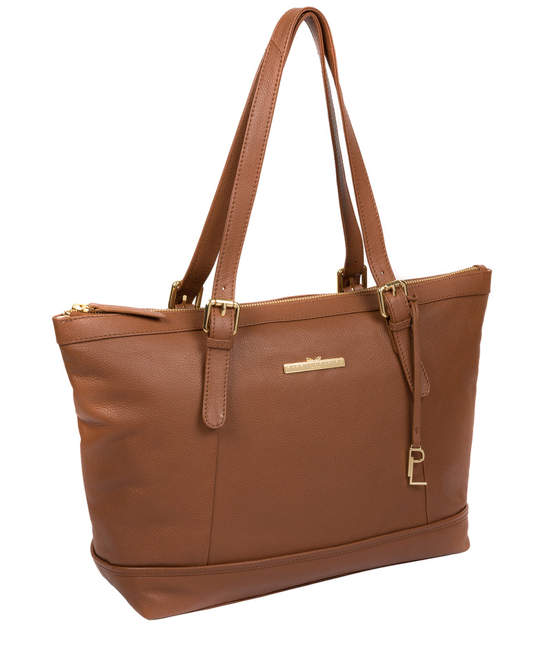 'Thame' Tan Leather Tote Bag image 5