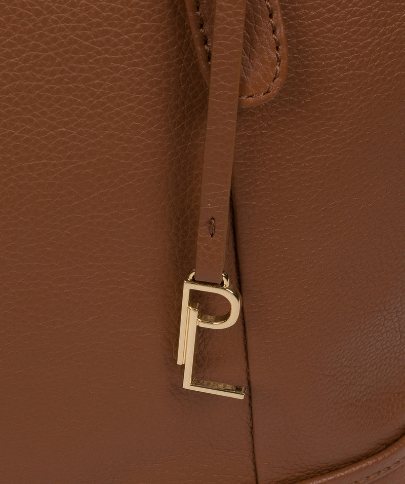 'Thame' Tan Leather Tote Bag image 6