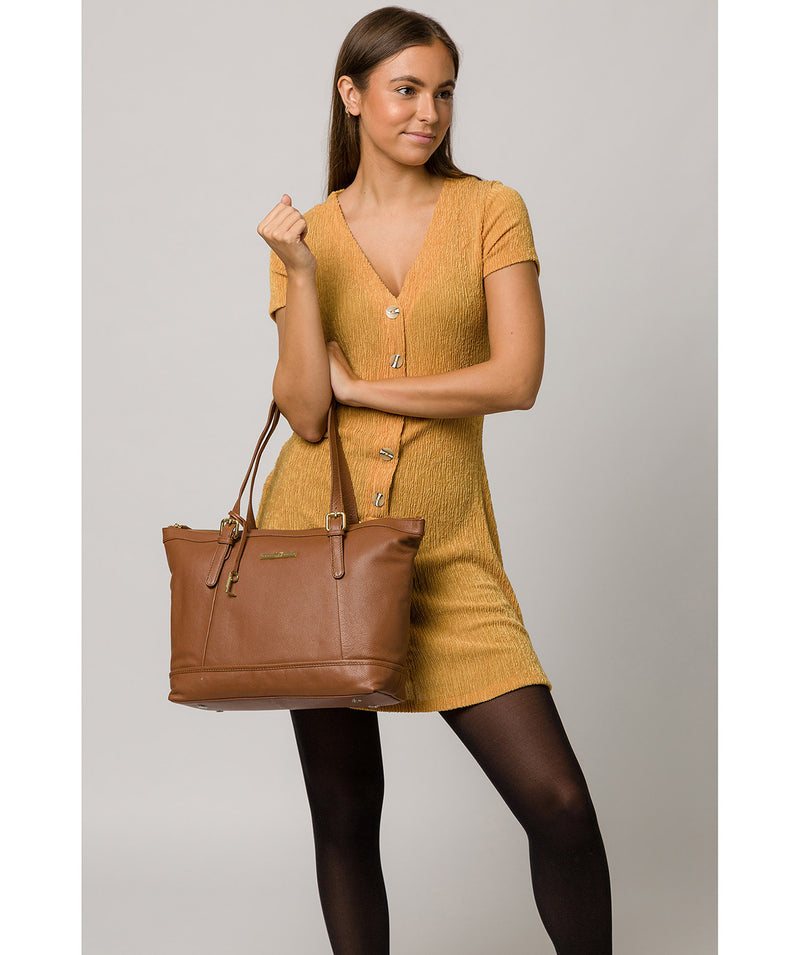 'Thame' Tan Leather Tote Bag image 2