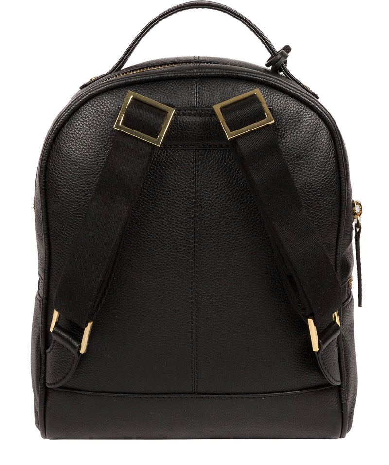 'Hayes' Black Leather Backpack image 3