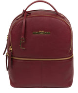'Hayes' Deep Red Leather Backpack image 1