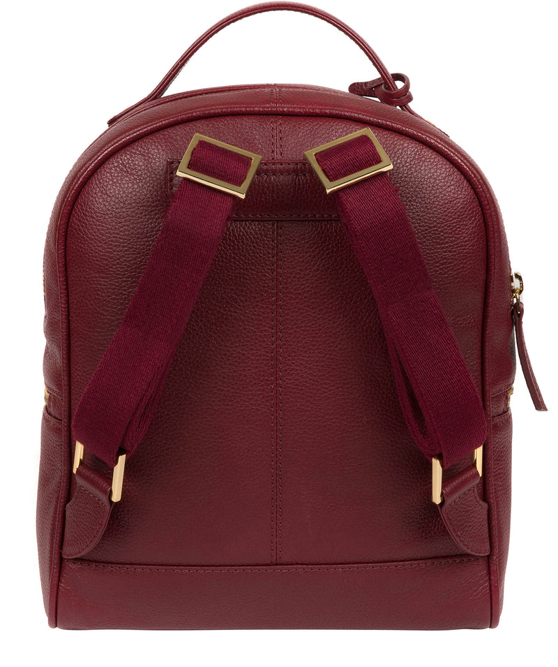 'Hayes' Deep Red Leather Backpack image 3