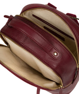 'Hayes' Deep Red Leather Backpack image 4