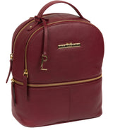 'Hayes' Deep Red Leather Backpack image 5
