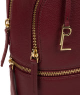 'Hayes' Deep Red Leather Backpack image 6
