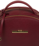'Hayes' Deep Red Leather Backpack image 7