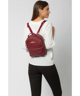 'Hayes' Deep Red Leather Backpack image 2