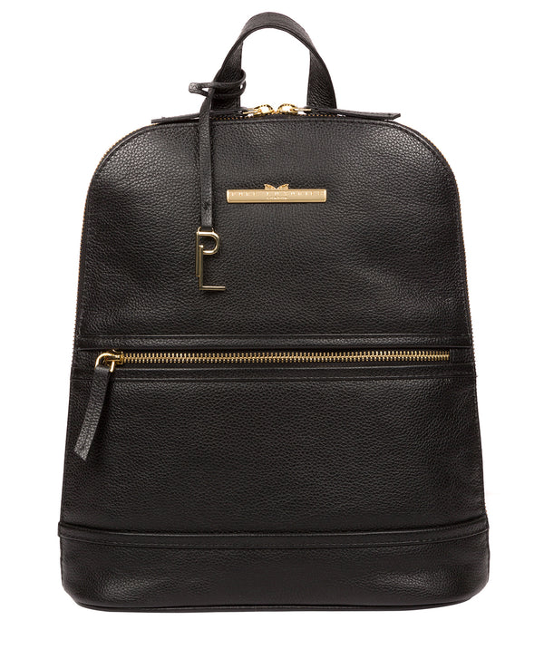 'Elland' Black Leather Backpack Pure Luxuries London
