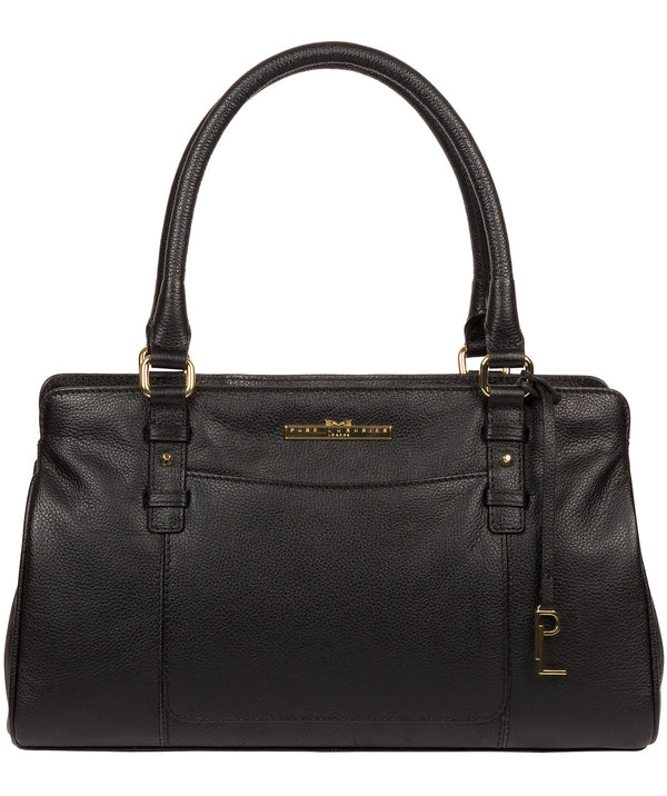 'Leiston' Black Leather Handbag image 1