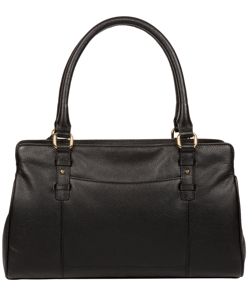 'Leiston' Black Leather Handbag image 3