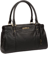 'Leiston' Black Leather Handbag image 5