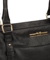 'Leiston' Black Leather Handbag image 6