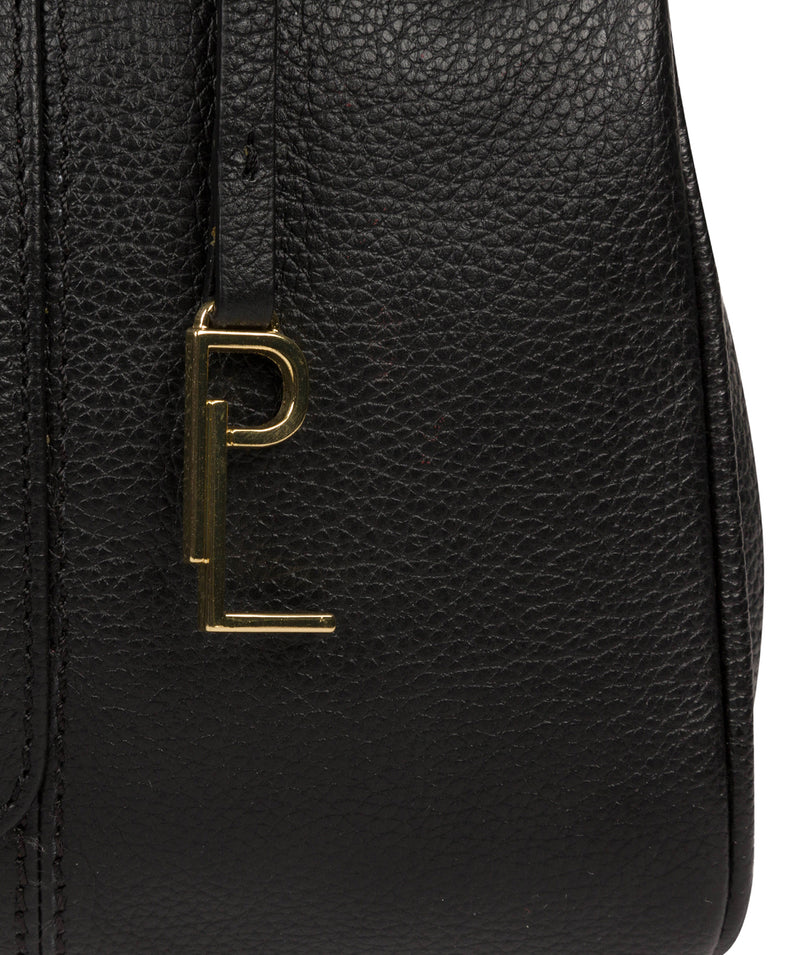 'Leiston' Black Leather Handbag image 7