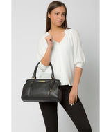 'Leiston' Black Leather Handbag image 2