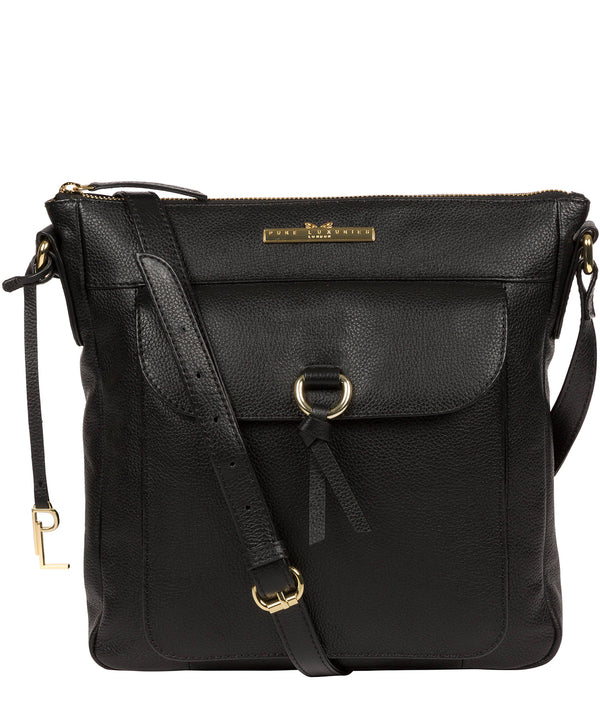 'Holbroke' Black Leather Shoulder Bag image 1