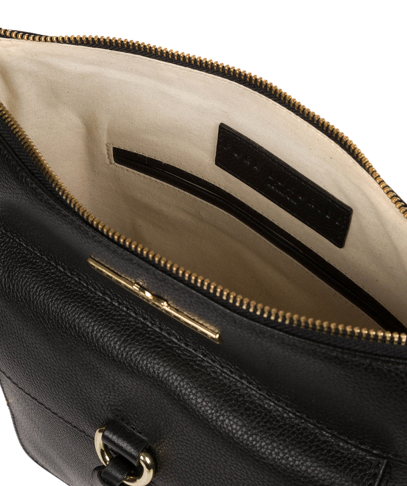 'Holbroke' Black Leather Shoulder Bag image 4