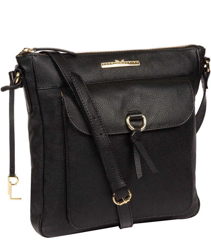 'Holbroke' Black Leather Shoulder Bag image 5