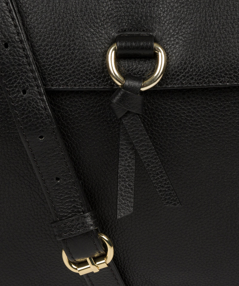 'Holbroke' Black Leather Shoulder Bag image 6