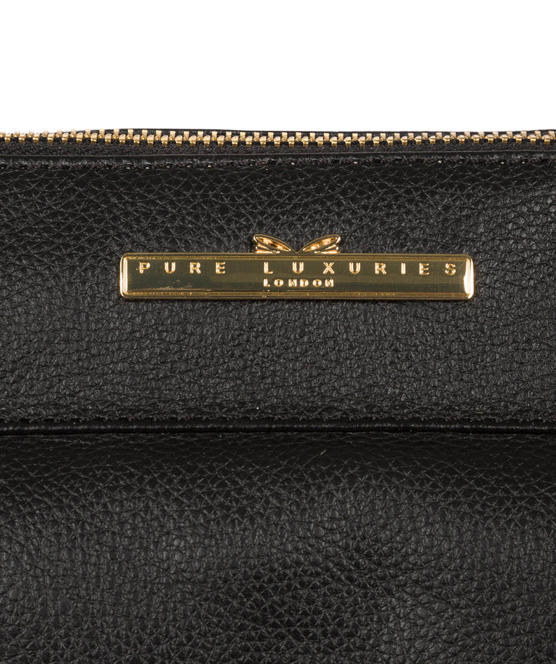 'Holbroke' Black Leather Shoulder Bag image 7